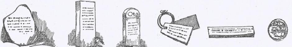 Inscriptions on boulders, pillars, stones, copper plates, palm leaf manuscripts, and coins