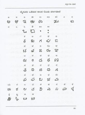 Modi Bharaha - Mysore Wodeyar Script